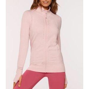 Lorna Jane Seamless pink zip up